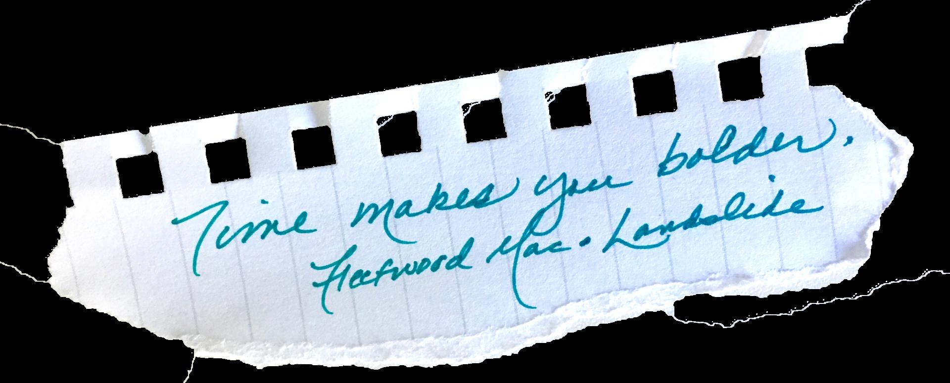 Fleetwood Mac Landslide Lyrics on Paper Scrap