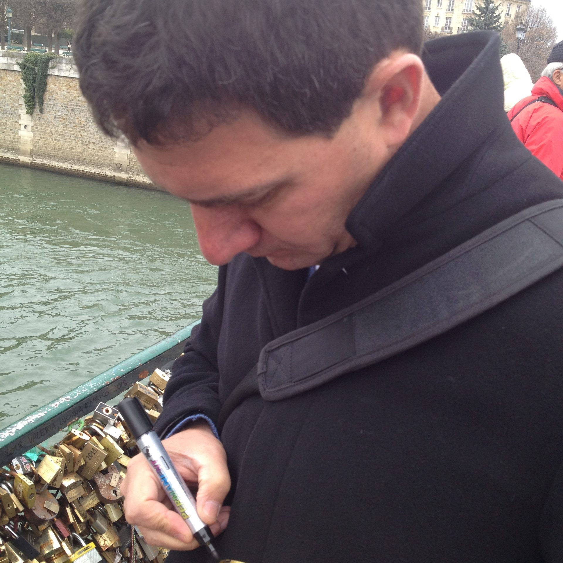 Mike Signing Our Lock