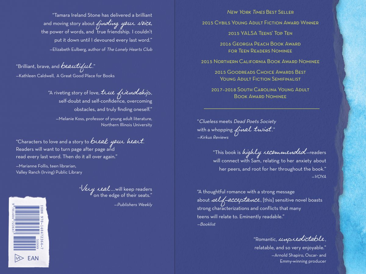 Every Last Word Paperback Inside Cover