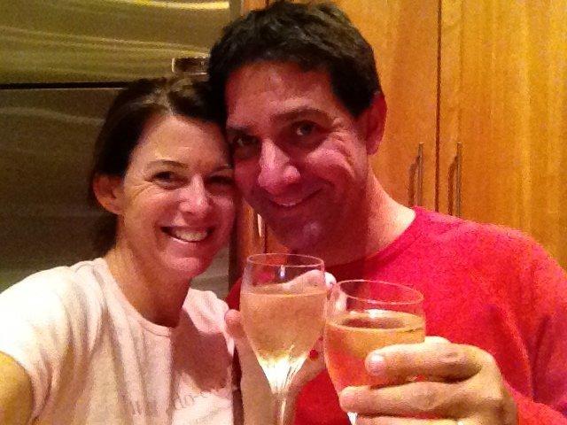 Celebrating with my Husband