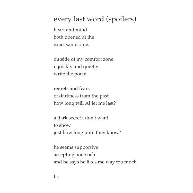 Every Last Word (Spoilers) – L.R.